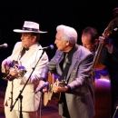 Bobby Hicks, Bobby Osborne and Del McCoury at the 2012 IBMA Awards Show - photo by John Goad