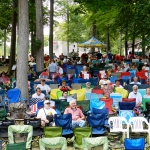 Crowd at Bean Blossom (June 2012) - photo by Valerie Gabehart