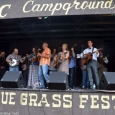 Emerging Artist mega-jam at the 2014 Milan Bluegrass Festival (8/16/14) - photo by Bill Warren