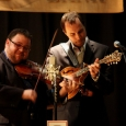 Hunter Berry and Josh Williams with Rhonda Vincent & the Rage in Hurley, VA (3/15/14) - photo by John Goad