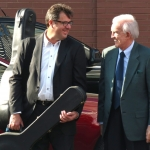 Vince Gill and Ralph Emery outside The Ryman after the Earl Scruggs memorial (4/1/12) - photo by Terry Herd