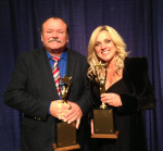 James King and Rhonda Vincent with their 2013 SPBGMA Awards