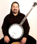 Tom Hanway with his signature SwallowTail Stelling banjo - photo by Vernon Webb