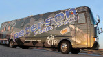 Nu-Blu's new bus, sponsored by Peterson Tuners
