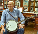 Jim Mills in his Banjo Showroom
