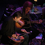 Rob Ickes and Randy Scruggs perform at the Earl Scruggs tribute concert (1/11/14) - photo by John Goad