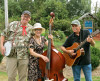 Wes Lassiter (on banjo) with Banjo Island at the Outer Banks Bluegrass Festival - photo by Woody Edwards