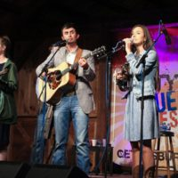 Them Roberston kids with Flatt Lonesome at the May 2018 Gettysburg Bluegrass Festival - photo by Frank Baker