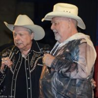 Mickey Gilley and Johnny Lee at the 2020 YeeHaw Music Fest - photo © Bill Warren